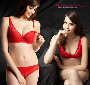 9883 (RED)  Flexiwire Shaping Lace Nursing Bra