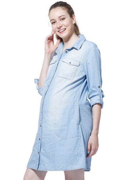 Denim Maternity and Nursing Dress