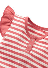 Load image into Gallery viewer, Orange Striped Summer Baby Romper