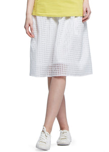 16513W Textured Monochrome Maternity Skirt