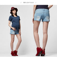 Load image into Gallery viewer, 16523B Classic Washed Denim Maternity Shorts