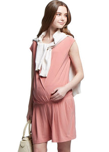 1601D Wrap Front Maternity & Nursing Jumpsuit