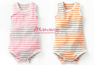 Mamaway Ribbed Sleeveless Baby Bodysuit(2-Piece)