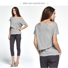 Load image into Gallery viewer, 171006 (Gray)  Asymmetrical Maternity and Nursing Top