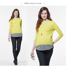Load image into Gallery viewer, 162083 (Yellow) Jersey Maternity & Nursing Set with Back Button Detail
