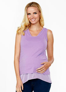 Soft Touch Maternity & Nursing Top with Chiffon