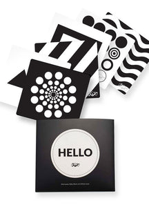 191234X Black and White Visual Card