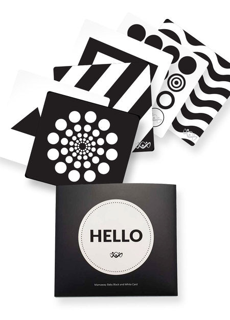 Black and White Visual Card