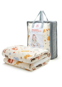 190408Y Temp. Balance Cot 2 Quilts & Cover Set - Zoo (FOX) Design