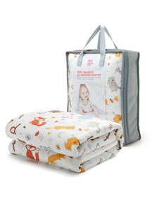 190408Z Temp. Balance Cot 2 Quilts & Cover Set - Zoo (Elephant) Design