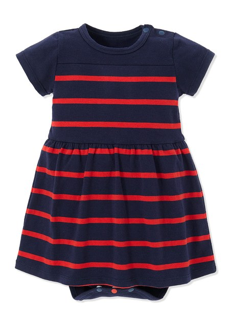 201704 STRIPE BABY BODYSUIT DRESS