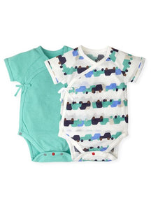 201721 - NEWBORN COTTON MESH SHORT SLEEVE BODYSUIT (Pack of 2)