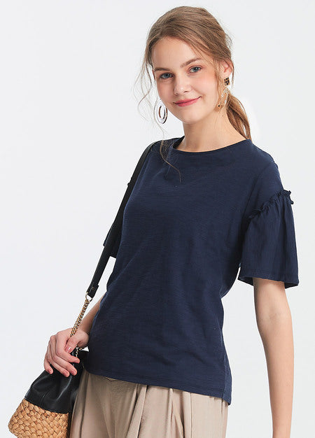 191015B Ruffled Maternity and Nursing Top