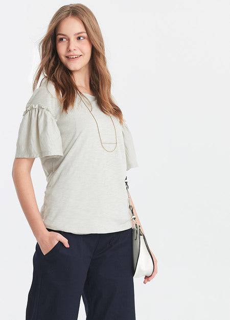 Ruffled Maternity and Nursing Top