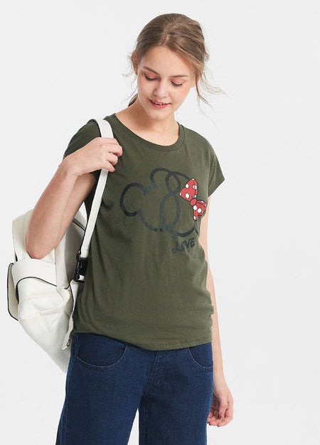 Mickey and Minnie Maternity and Nursing Tee