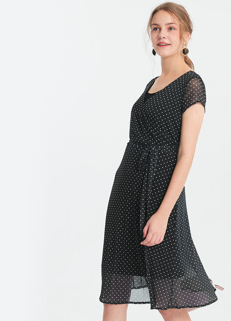 191006X Wrap around maternity and nursing dress