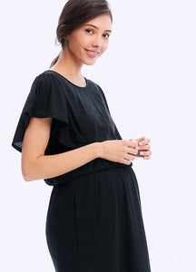 201018X COOL ELEGANT MATERNITY & NURSING DRESS