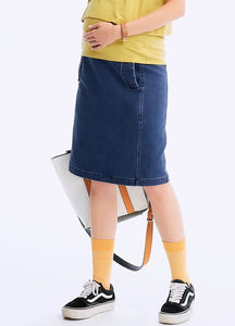 201510B  KNITTED MATERNITY DENIM SKIRT