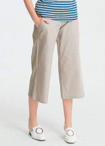 Flat Weave Wide Straight Maternity Pants