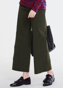 Wide Leg Cropped Maternity Pants