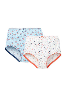 Anti Bacterial Cool Maternity Brief - pack of 2 (Light Blue)