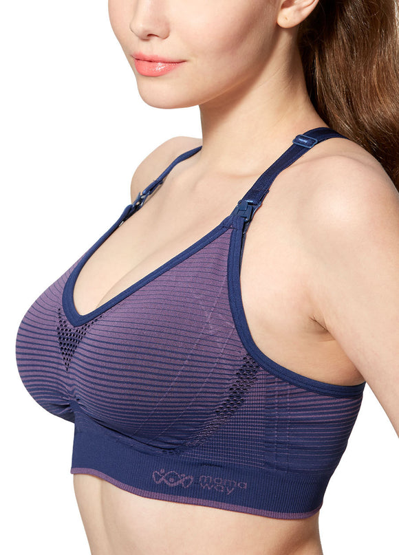 180823BP Seamless Antibacterial Maternity & Nursing Sports Bra