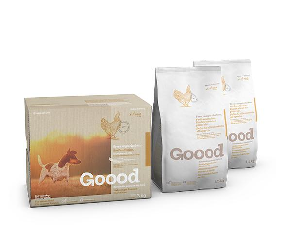 Free Range Chicken Dry Food for Small Dogs Dry Food Goooddog 3kg