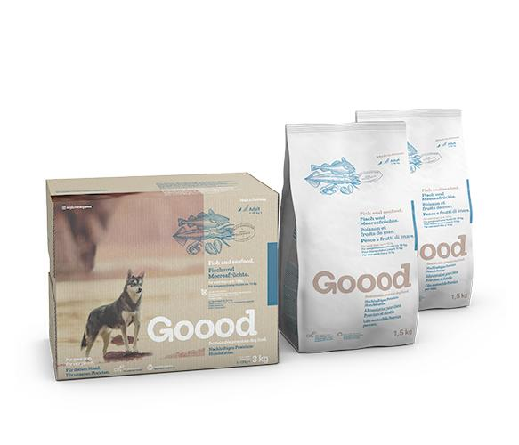 Sustainable Fish and Seafood Dry Food for Small Dogs Dry Food Goooddog 3kg