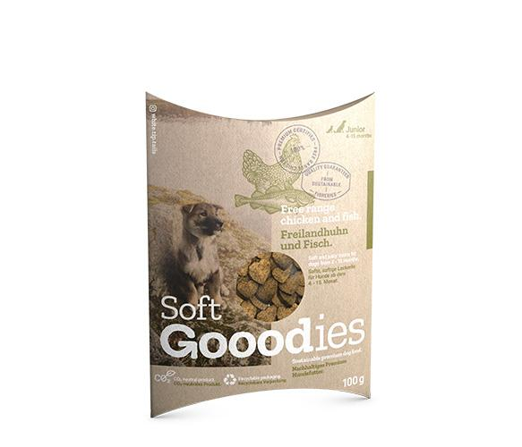 Puppy Soft Dog Treats - Free Range Chicken and Fish Soft Goodies Goooddog 100g