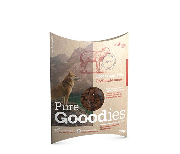 Free Range Lamb Pure Dog Treat Pure Gooodies Goooddog 70g