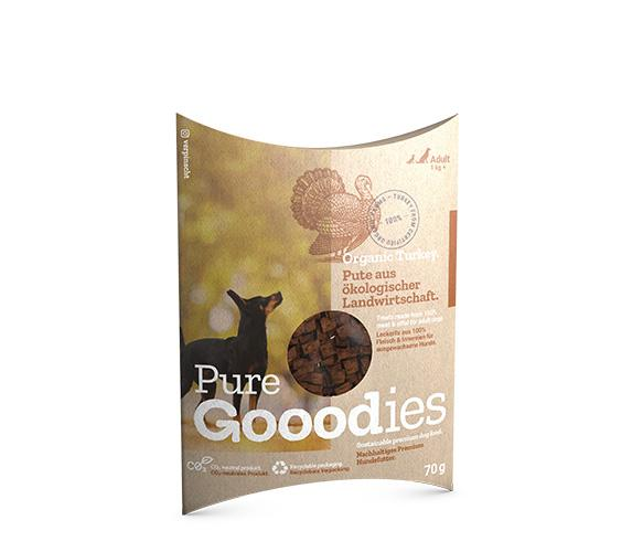 Organic Turkey Pure Dog Treat Pure Gooodies Goooddog 70g