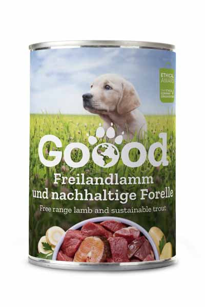 Free range lamb & sustainable trout for puppies