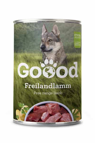 Free range lamb wet dog food