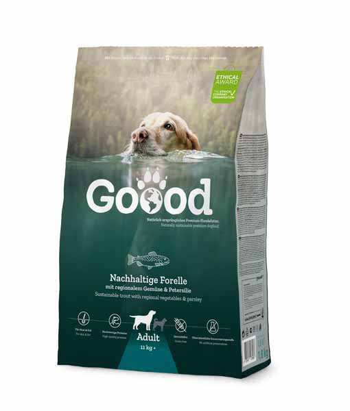 Sustainable trout dog food