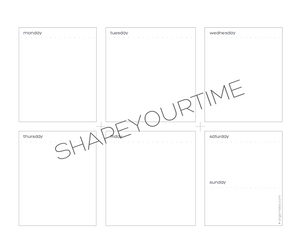 Digital Download Weekly Planning - Horizontal Layout