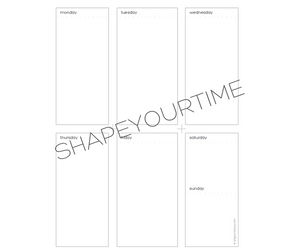 Digital Download of Origami Day Vertical Layout Folding Weekly Planning Sheet