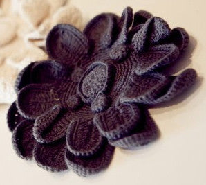 Grey Flower Brooch
