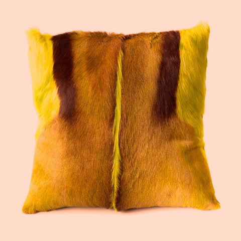 Yellow Springbok Pillow Cover