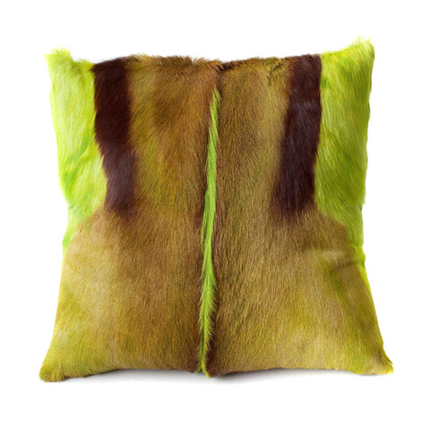 Lime Springbok Pillow Cover