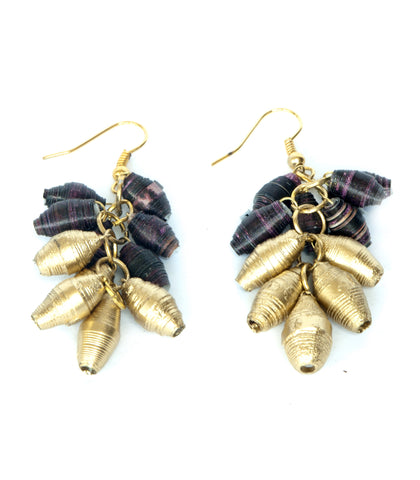 Charm Drop Earring Half Gold