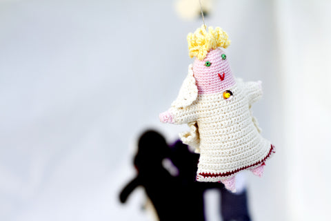 Blonde Baby Angel Ornament