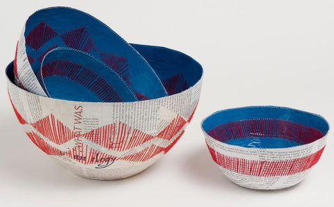 Blue Bowl-Stitched