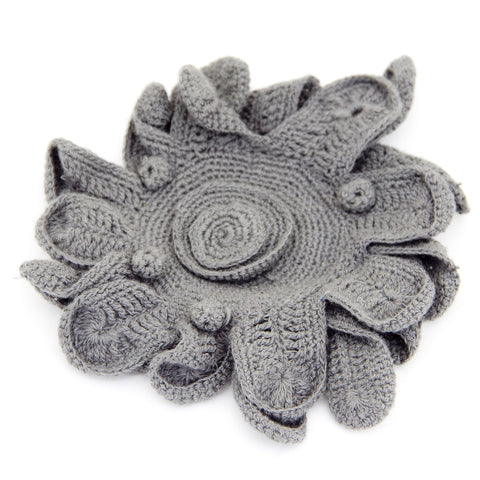 Taupe Flower Brooch