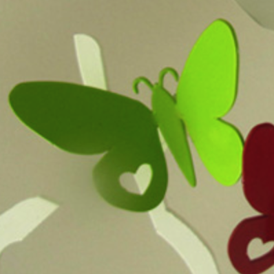 Lime-Shortwing Butterfly Fridge Magnet