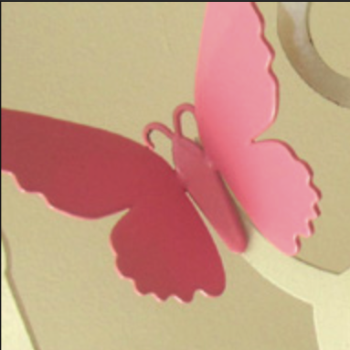 Pink-Shortwing Butterfly Fridge Magnet