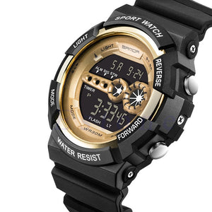Men's Military Outdoor Stainless Steel Waterproof LED Digital Quartz Watch
