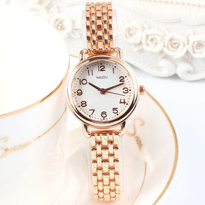 Women's Luxury Quartz Small Dial Stainless Steel Bracelet Watch