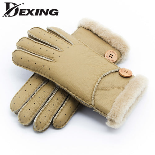 Women's Mink Cashmere Winter Gloves