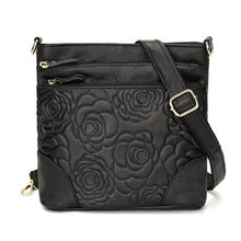 Load image into Gallery viewer, Women's Leather Flower Decorated Cross Body Messenger Bag