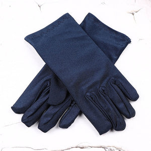 Women's Short Formal Satin Evening Gloves